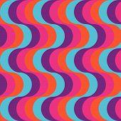 Bright Retro Styled Waves