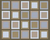 Retro Brown And Blue Squares Background