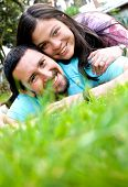 Happy Couple Outdoors poster