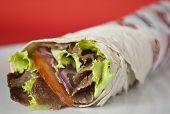 Turkish durum kebab