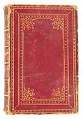 Antiquarian Book With Red And Gold Cover