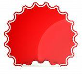 Red Round Hamous Sticker Or Label