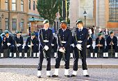 Stockholm, Sweden - July 1: Soldiers Are Waiting Changing Of The Guard Ceremony On July 01, 2010 In