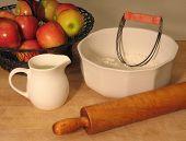 Vintage pie baking tools