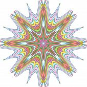 multiple colored eighteen point  stars
