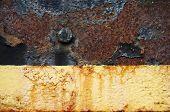 Rusty Metal Peeling Paint Background
