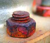 picture of hematite  - -- severely damaged by rust - JPG