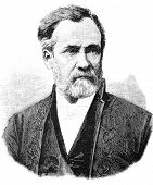 Louis Pasteur - French microbiologist and chemist, member of the French Academy (1881).  Illustratio