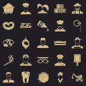 Occupational Icons Set. Simple Set Of 25 Occupational Vector Icons For Web For Any Design poster