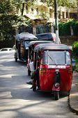Popular Asian Transport As A Taxi.