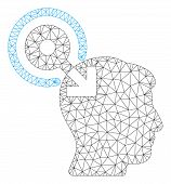 Mesh Brain Interface Plug-in Polygonal Icon Vector Illustration. Model Is Created From Brain Interfa poster