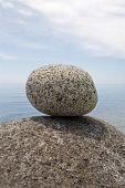 Large granite stones of sea coast.