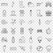September Icons Set. Outline Style Of 36 September Vector Icons For Web For Any Design poster