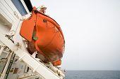 lifeboat on ocean liner
