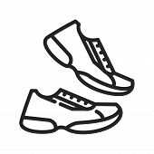 Running Shoes Icon Isolated On White Background. Running Shoes Icon In Trendy Design Style. Running  poster