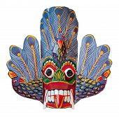 Handmade Wooden Mask Mauru Raksha From Sri-lanka