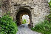 Arch Of One Of The Entrances To The City And Road In The Mediaeval Defensive Stefan Batory Tower. Vi poster