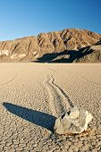 Moving rock in Death Valley Racetrack