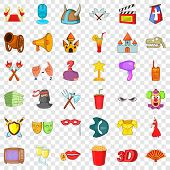 Culture Icons Set. Cartoon Style Of 36 Culture Vector Icons For Web For Any Design poster
