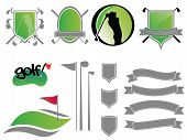 Golf Course Icon Elements