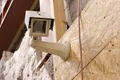 Picture Of A Security Camera, Stock Photo