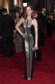 LOS ANGELES - FEB 26:  Judy Greer arrives at the 84th Academy Awards at the Hollywood & Highland Cen