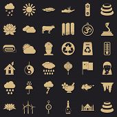 Asiatic Icons Set. Simple Set Of 36 Asiatic Vector Icons For Web For Any Design poster