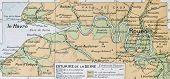 Mouth of Seine river old map. By Paul Vidal de Lablache, Atlas Classique, Librerie Colin, Paris, 1894 (first edition)