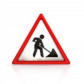 Roadworks sign, vector