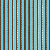 Seamless Aqua, Brown & White Stripe