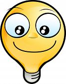 Lighting Bulb Icon - Smiling