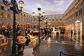 Las Vegas, Nevada - April 11: The Piazza San Marco Replica On Second Floor Inside Of Venetian Resort
