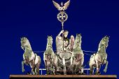 The Quadriga at night