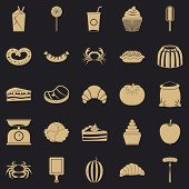 Best Breakfast Icons Set. Simple Set Of 25 Best Breakfast Vector Icons For Web For Any Design poster