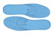 Pair Of Blue Foam Insoles