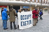 Occupy Exeter activist take part in a general assembly