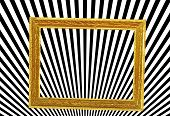 Golden frame, abstract