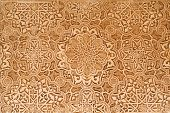 Patio Of The Lions Plaster Detail From The Alhambra Palace