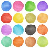 Abstract Colorful Watercolor Circle