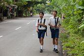 Balinese School Kids
