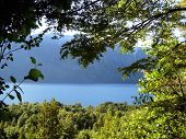 Argentina. View Of A Lake In Patagonia.
