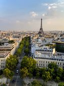 Panorama of Paris with view to the Eiffel Tower poster