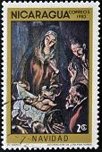 NICARAGUA - CIRCA 1983: A Stamp printed in NICARAGUA shows the painting