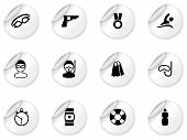Stickers with swimming icons