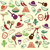 pic of maracas  - Mexican seamless pattern  - JPG
