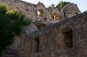 Fortezza - details of an old Venetian fortress in Rhetymno