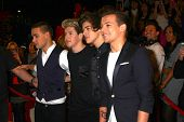 LOS ANGELES - DEC 20:  (L-R)Liam Payne, Niall Horan, Harry Styles and Louis Tomlinson of One Directi