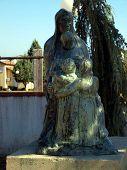 Bijakovici Near Medjugorje - Our Lady Statue Monument And Children