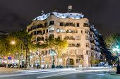 Casa Mila designed by Gaudi, Barcelona, Spain