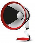 megaphone vector abstraction